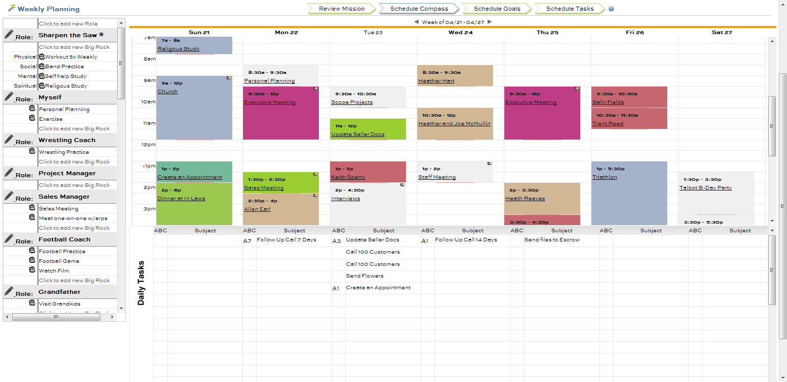 Weekly Calendar Using Javascript : Franklincovey associated sites images frompo