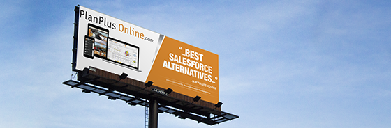 PlanPlus Online Billboard - Named Top Salesforce Competitor