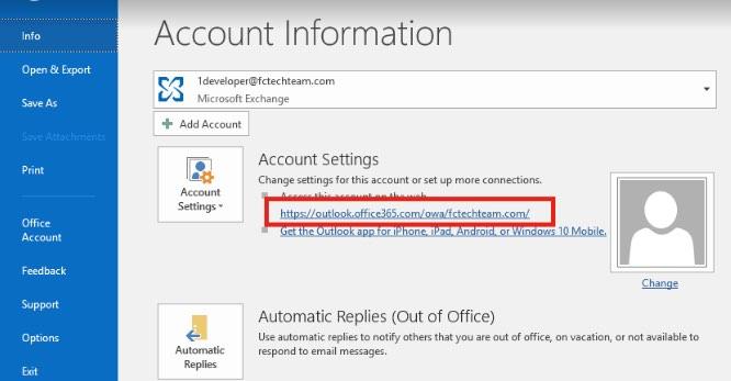 Outlook settings 4