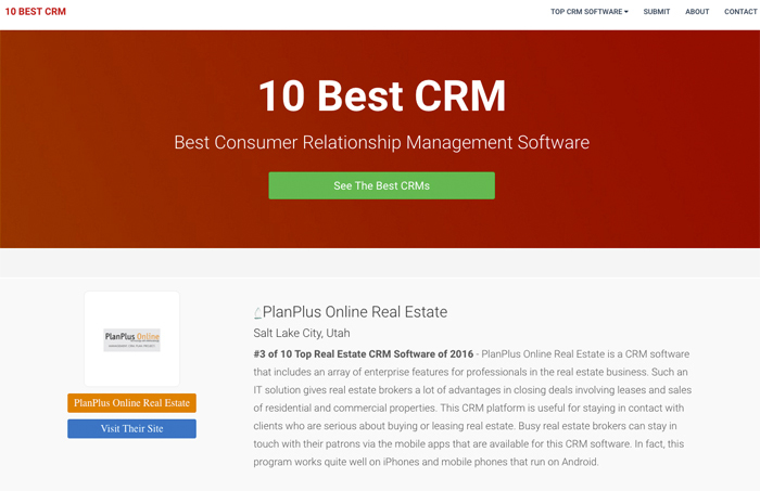 PlanPlus Online chosen as a best Real Estate CRM solution