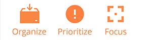 Organize Prioritize Focus