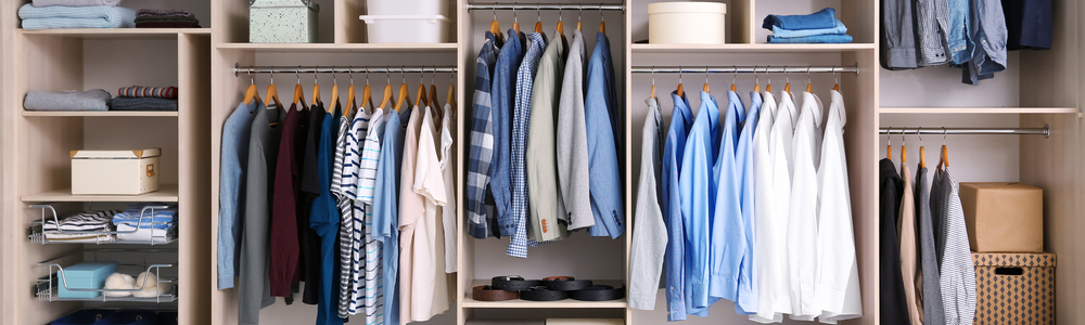 The idea of a closet is to have one convenient location to store your stuff.